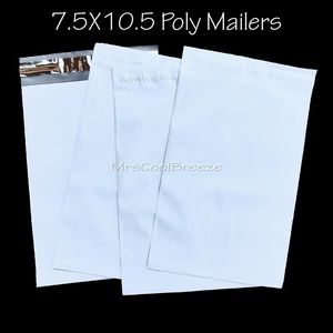 50 - 7.5X10.5 White High Quality Poly Mailers